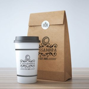 2019 Recycled Takeaway Food Packaging Brown Paper Bag1