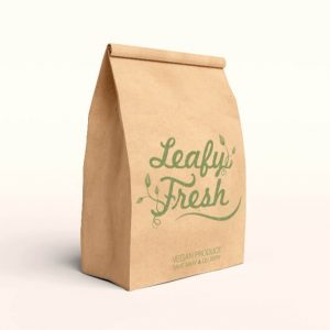 2019 Recycled Takeaway Food Packaging Brown Paper Bag2