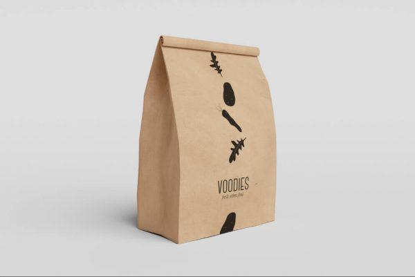 2019 Recycled Takeaway Food Packaging Brown Paper Bag3