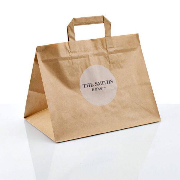 2019 Recycled Takeaway Food Packaging Brown Paper Bag4