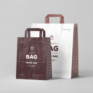 Creative Luxury Stamping Logo Printed Paper Bag Custom1