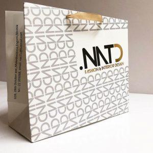 Creative Luxury Stamping Logo Printed Paper Bag Custom2