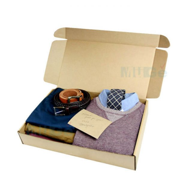 Custom Cheap Folding Corrugated Paper Clothing Packaging2