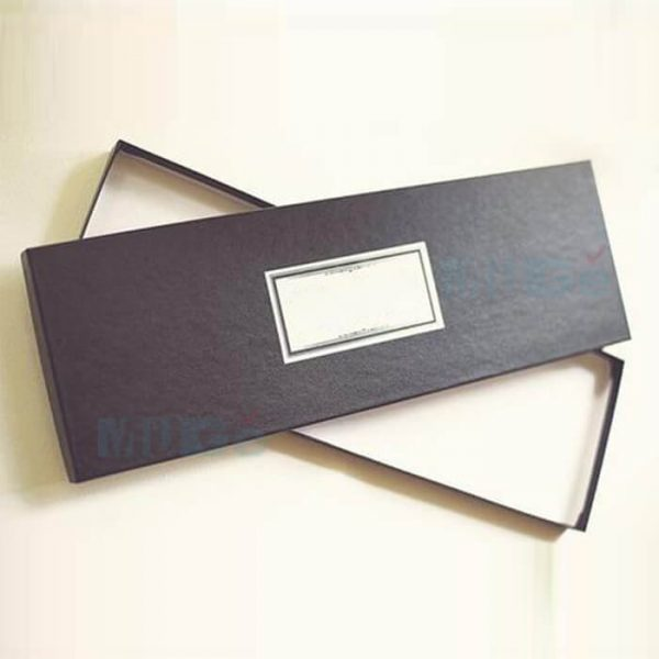 Custom Classic Coated Paper Packaging Bowtie Male Apparel Box3