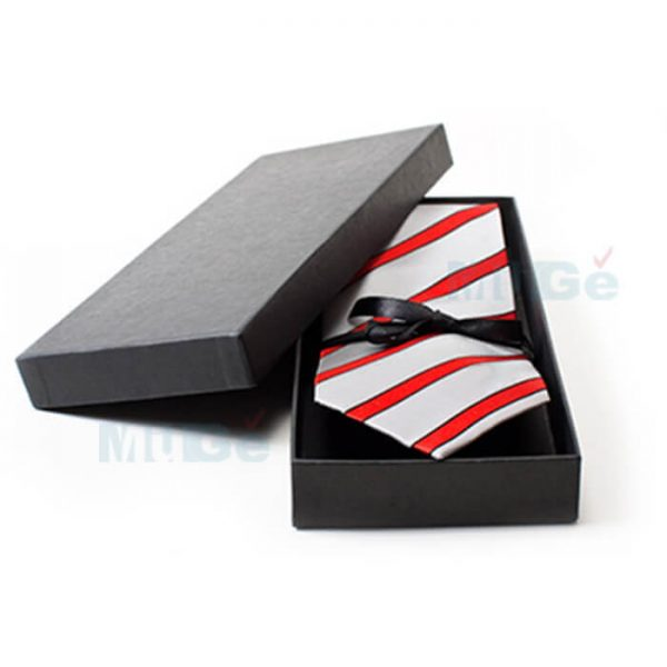 Custom Classic Coated Paper Packaging Bowtie Male Apparel Box4