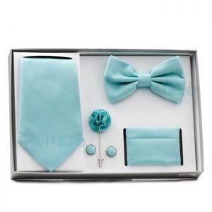 Custom Classic Rigid Paper Packaging Silk Bow Tie Box1