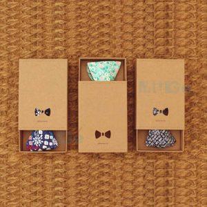 Custom Classic Rigid Paper Packaging Silk Bow Tie Box2