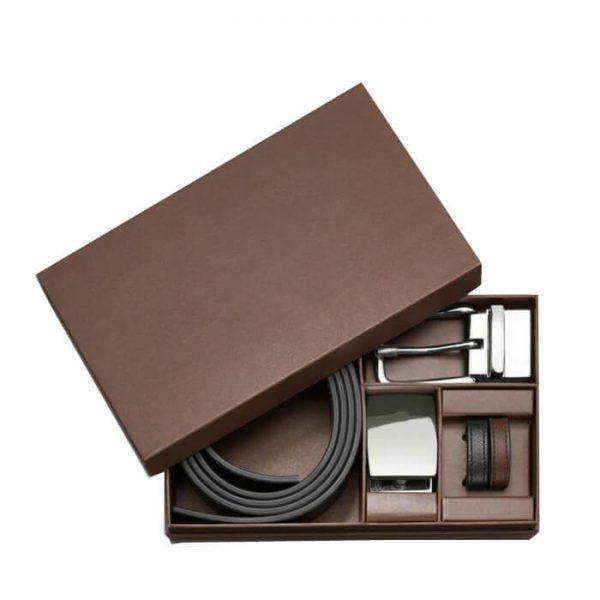 Custom Gift Rigid Cardboard Paper Belt Box Packaging1