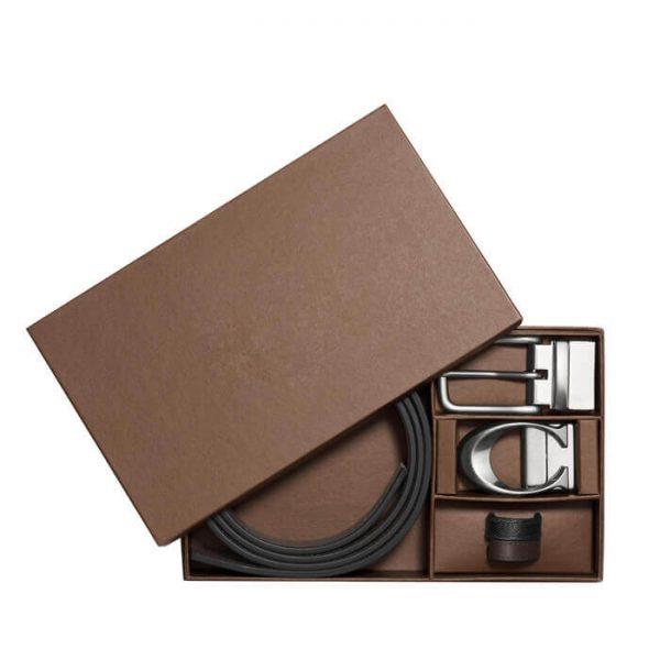 Custom Gift Rigid Cardboard Paper Belt Box Packaging4