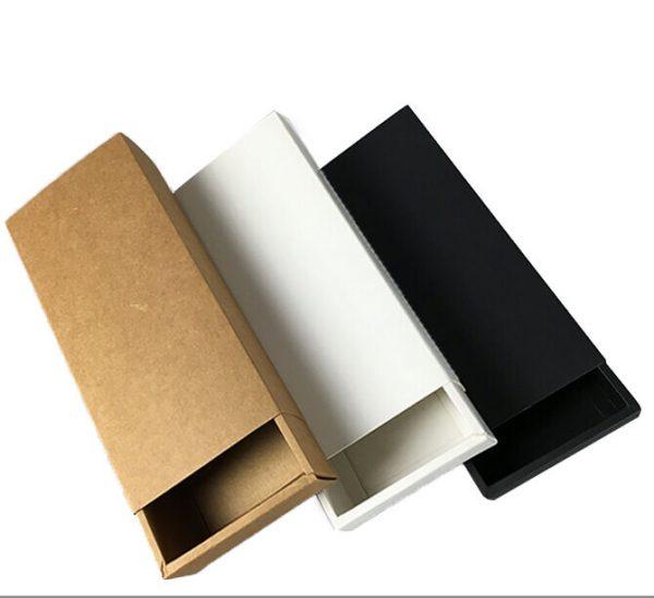 Custom Luxury Black Rigid Paper Tie Set Apparel Packaging Box1