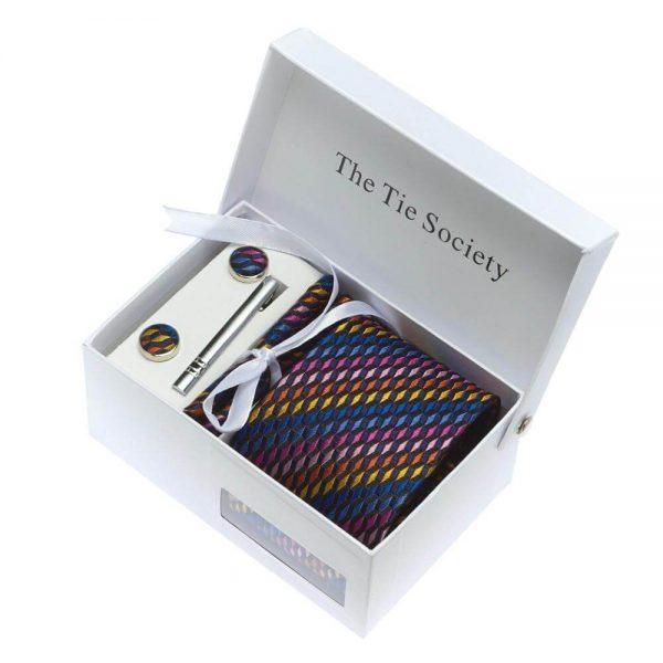 Custom Luxury Black Rigid Paper Tie Set Apparel Packaging Box2