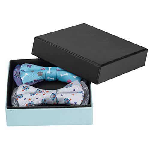 Custom Luxury Black Rigid Paper Tie Set Apparel Packaging Box4