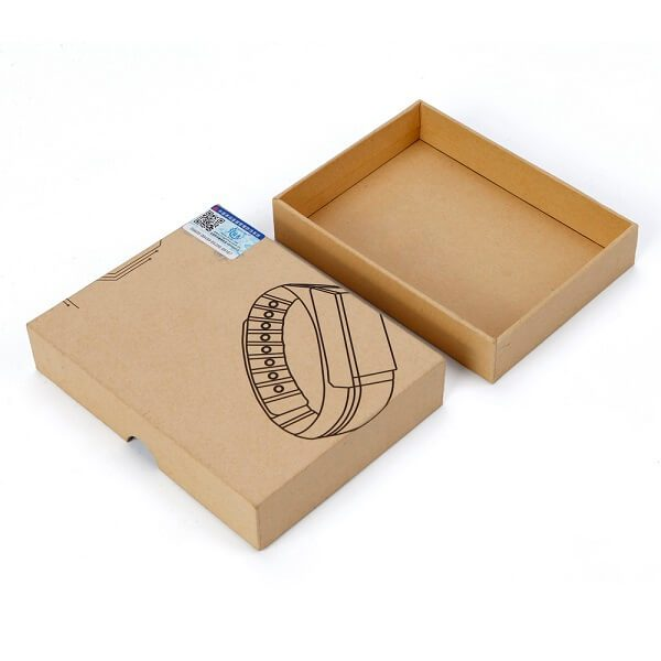 Custom Made Brown Kraft Paper Gift Box Cardboard4