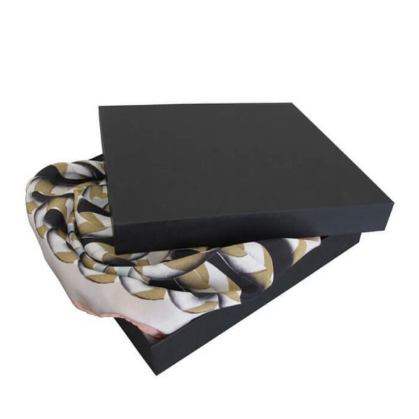 Factory Fancy Paper Gift Silk Scarf Box With Custom Logo1