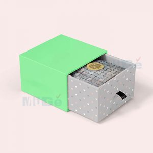 Fancy Color Printed Rigid Paper Packaging Drawer Silver Box2