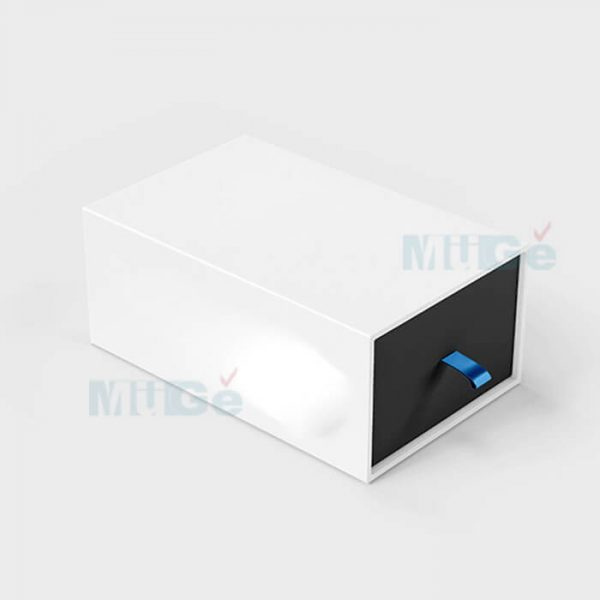 Fancy Color Printed Rigid Paper Packaging Drawer Silver Box3