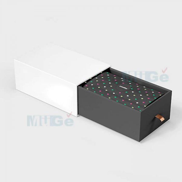 Fancy Color Printed Rigid Paper Packaging Drawer Silver Box4
