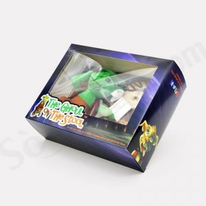 Fancy Printed Paper Toy Box Dinosaur Packaging With Pvc Window2