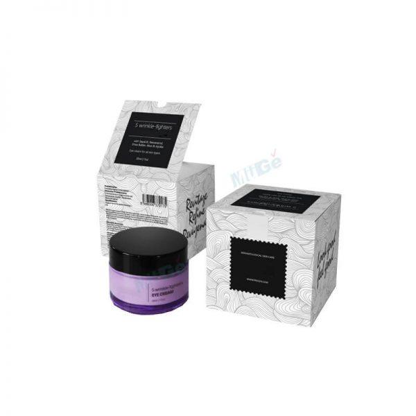 Free Sample Custom White Makeup Eye Cream Packaging Box4