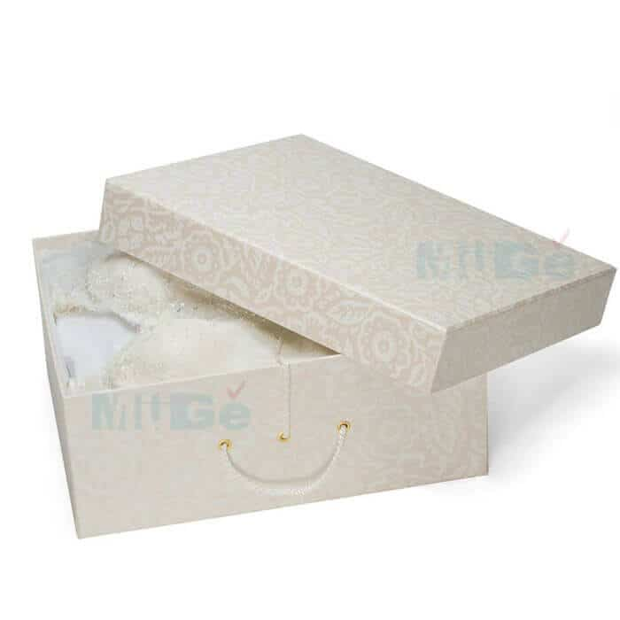 Wedding Gown Boxes: Luxury Cardboard Magnetic Wedding Dress Storage Box With