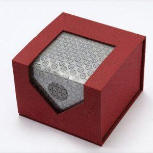 Luxury Cardboard Paper And Kraft Packaging Round Tie Box1