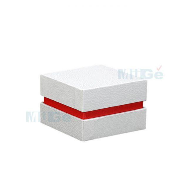 Luxury Jewelry Custom Cardboard White Packaging Top Base Box2