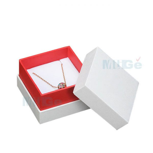 Luxury Jewelry Custom Cardboard White Packaging Top Base Box3