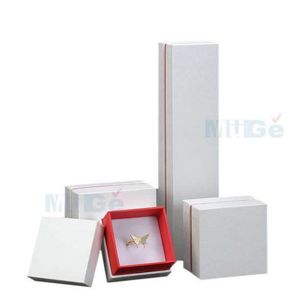 Luxury Jewelry Custom Cardboard White Packaging Top Base Box4