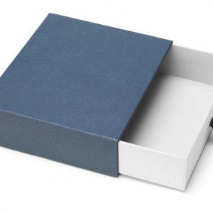 Rigid Paper Yellow Printing Custom Drawer Box With Ribbon Handle1