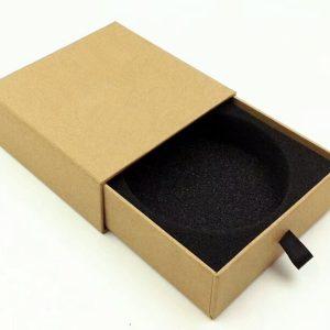 Rigid Paper Yellow Printing Custom Drawer Box With Ribbon Handle2