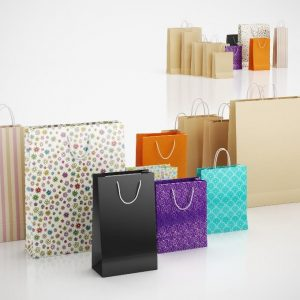 Top Quality Recycled Shopping Kraft Paper Bag With Handle1