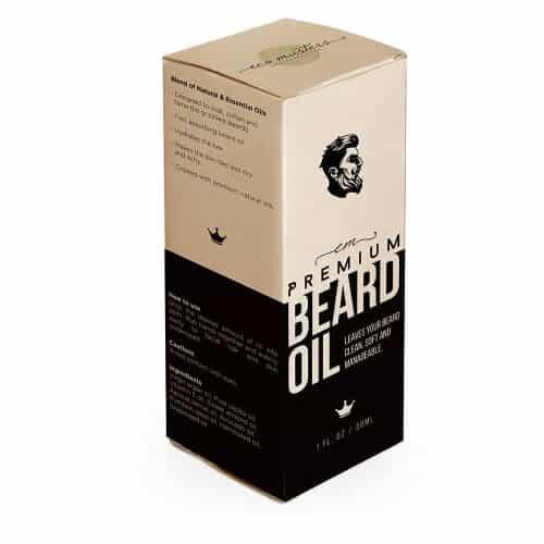 Wholesale Classic Printed Paper Beard Oil Packaging Box1