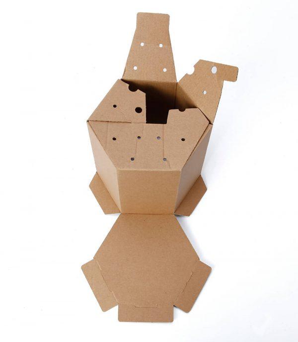 Hexagon Corrugated Box Wholesale5